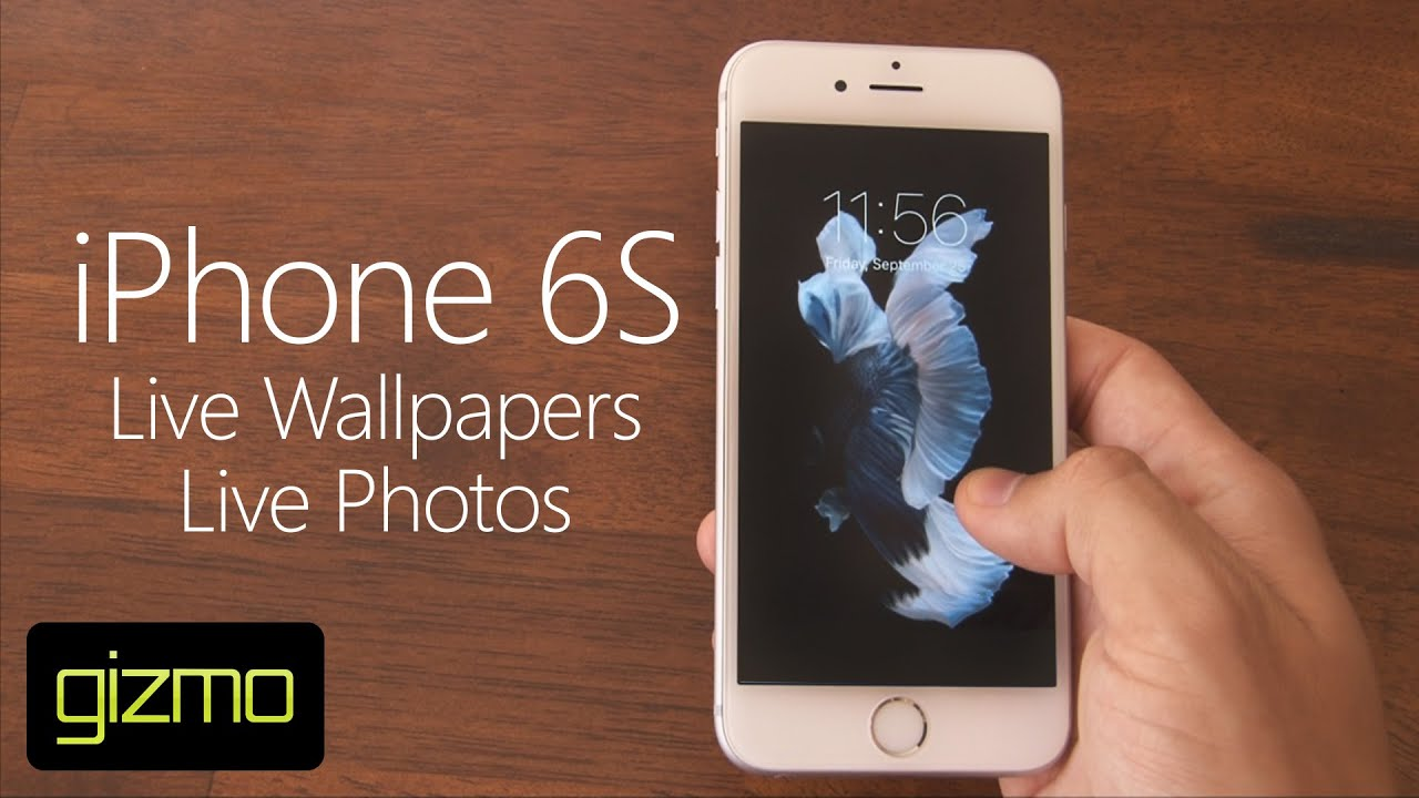 iPhone 6S - Live Wallpapers & Photos - YouTube