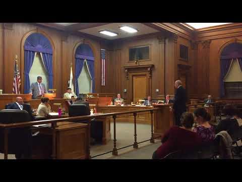Superintendent Roy Belson addresses Medford City Council