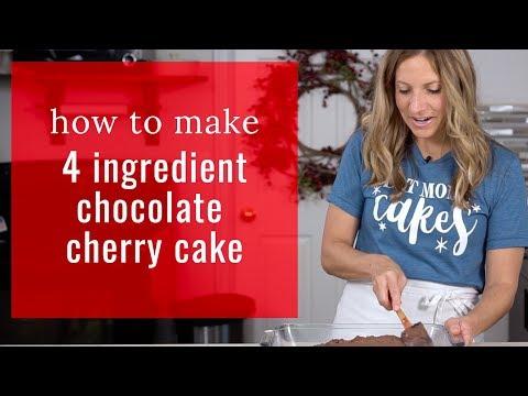 How To Make 4 INGREDIENT CHOCOLATE CHERRY CAKE {Recipe Video}