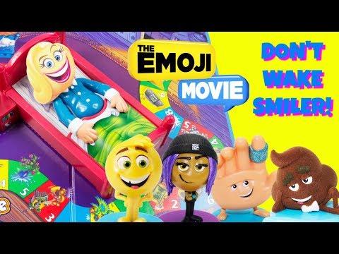 DONT WAKE SMILER! EMOJI MOVIE Gene, Jailbreak, Hi-5, Poop LOL Charm Fizz Pool Party