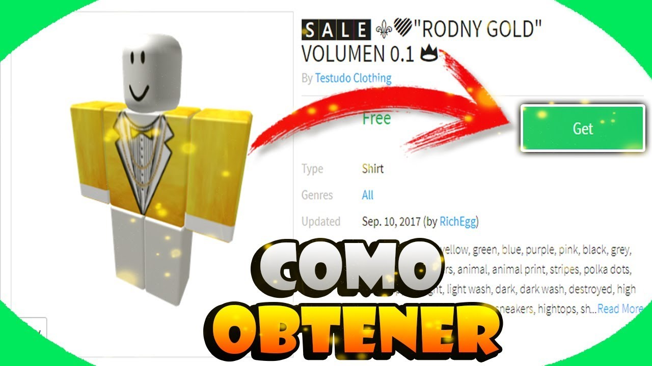 Como Tener La Camisa De Rodny Roblox Gratis Roblox Youtube