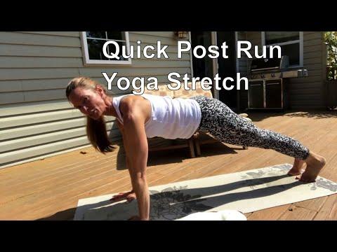 Quick post run yoga stretch