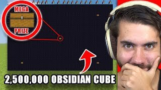 I Hid Real Cash Prizes Inside 2.5 MILLION Obsidian Blocks