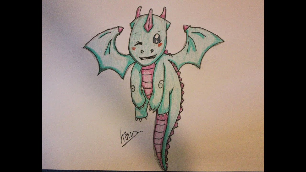 Uncategorized Cute Dragon Drawings how i draw a cute dragon youtube