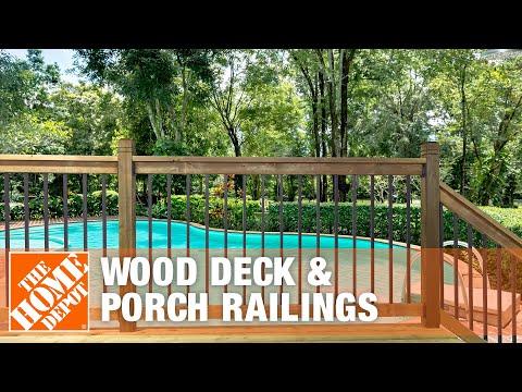 Wood Deck Porch Railings You
