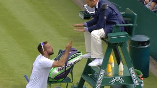 Viktor Troicki Angry: You're an Idiot, the worst ever! Wimbledon 2016 Rage HD