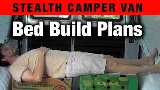 Living In A Van: Bed Build Plans With Measurements