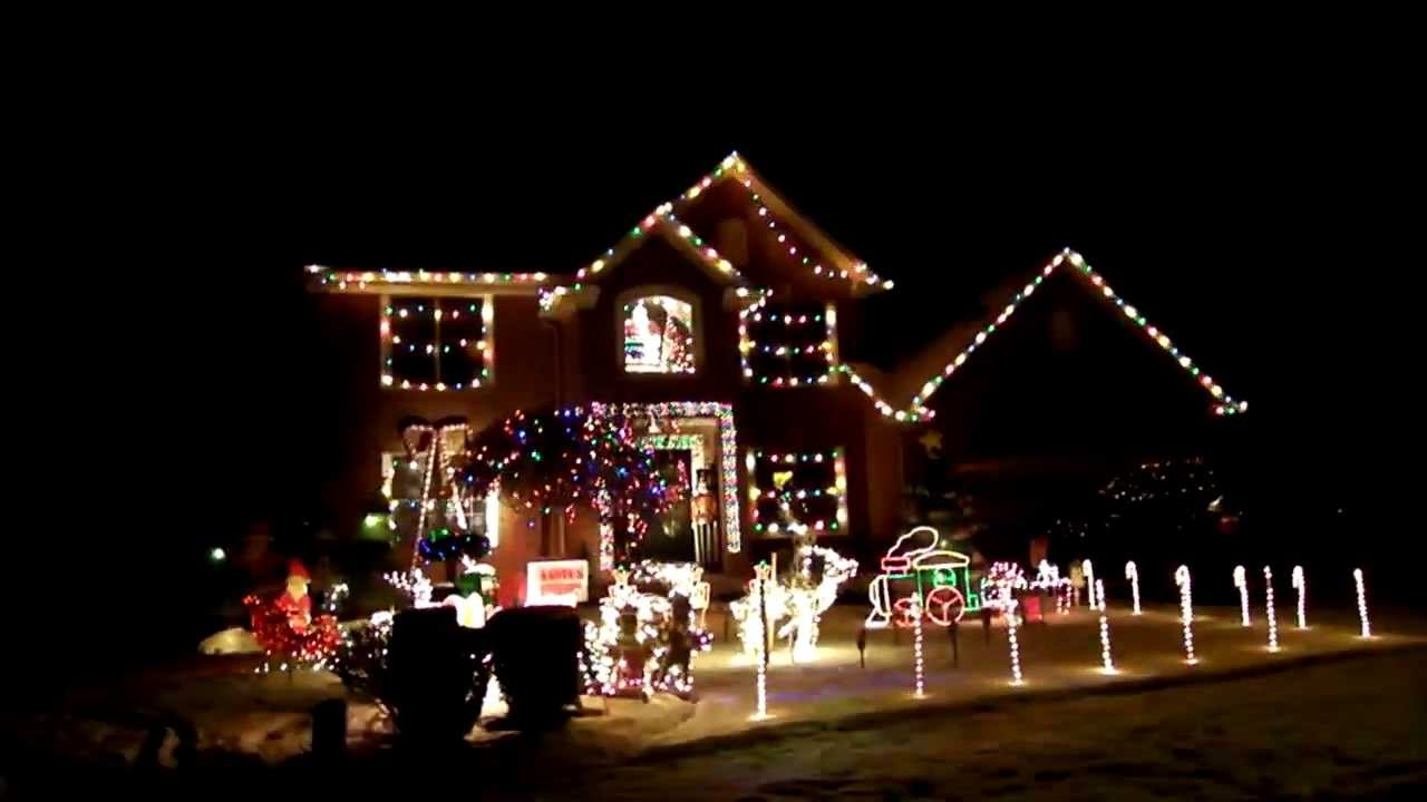 Best christmas house decoration with music youtube Holiday decorated homes