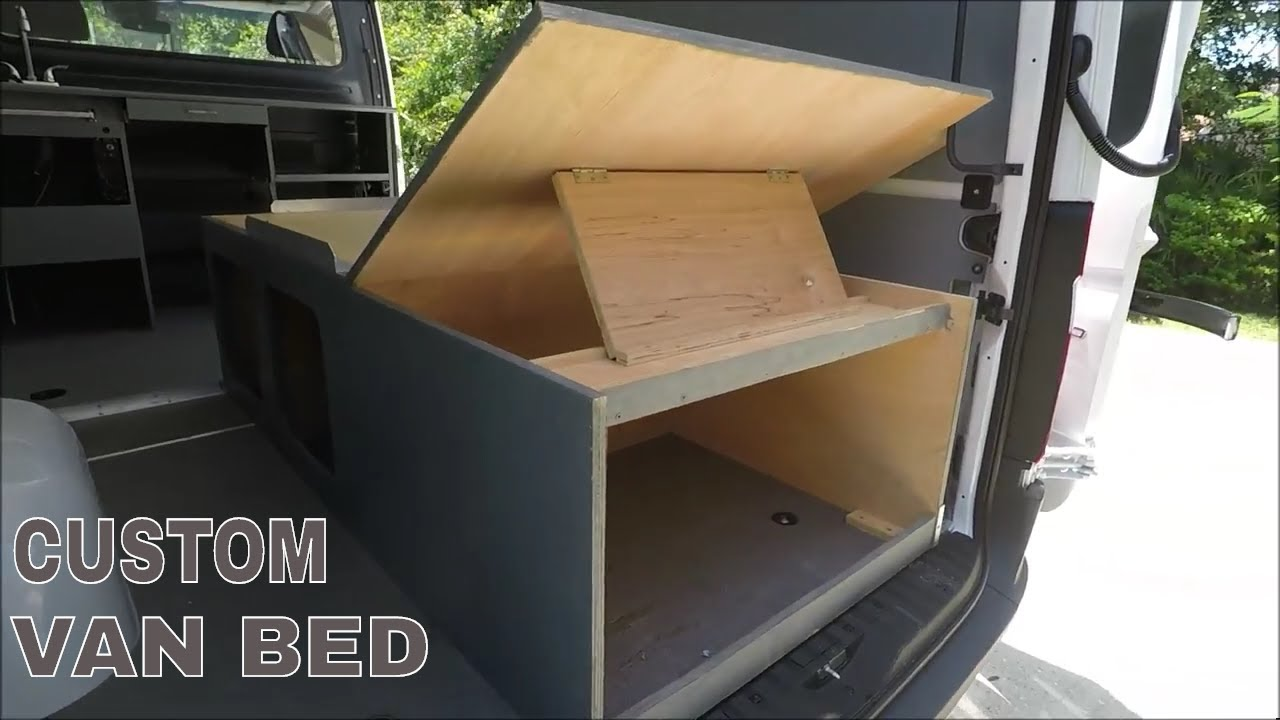 Sprinter Conversion Custom Bed Installation DIY RV