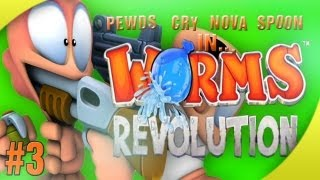 Nova / Sp00n / Cry / Pewds - Worms Revolution Part (3) Match (1)