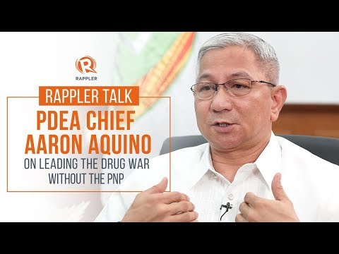 Rappler Talk with PDEA Chief Aaron Aquino on leading the drug war without the PNP