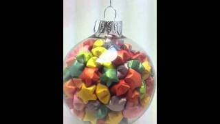 Lucky Star Origami Glass Ball Ornament