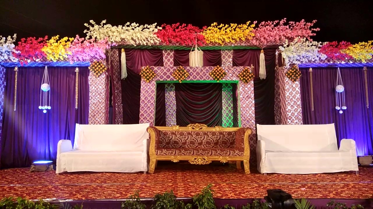 Balaji dham tent house wedding theem decoration - YouTube