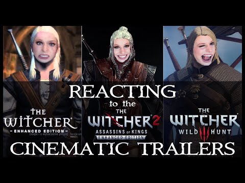 Reacting to ALL the Witcher Cinematic Trailers!