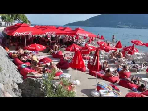 A day at the beach in Herceg Novi, Montenegro