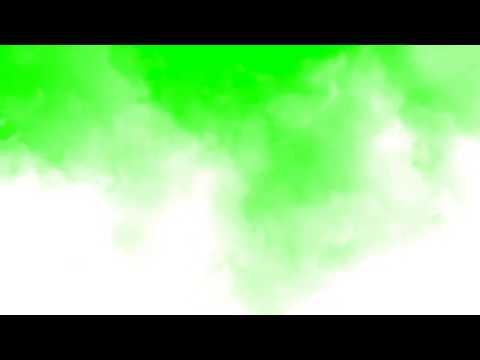 Туман, дымка на зеленом фоне, хромакей