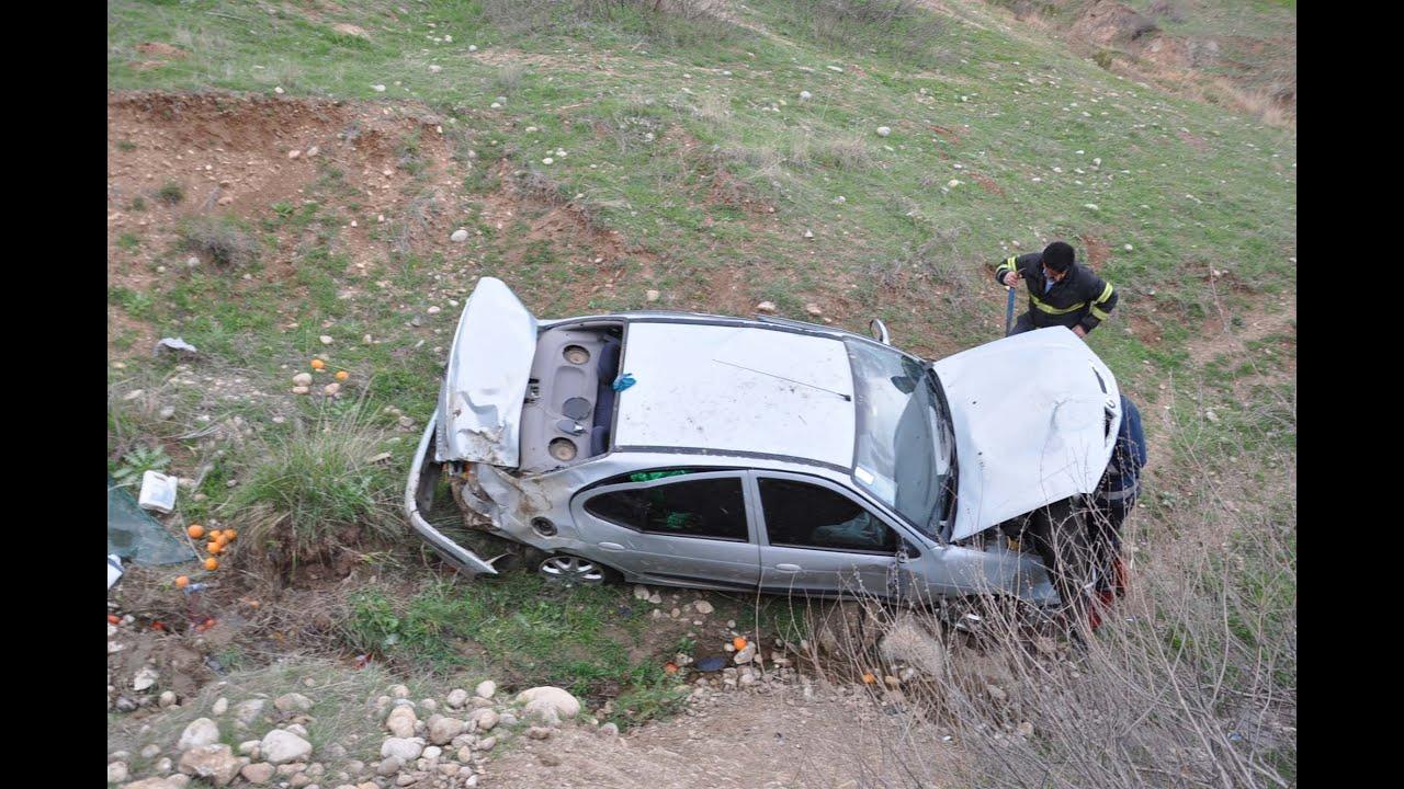 Otomobil Şarampole Devrildi 7 Yaralı