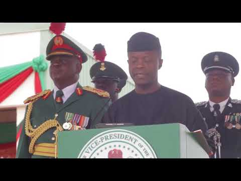 Prof. Yemi Osinbajo, SAN, attends Passing Out Ceremony in Honor of Cadets of NDA 64 Regular Course