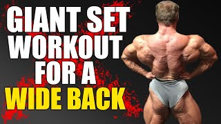 (TRY THIS) Wide Back Giant Set Workout