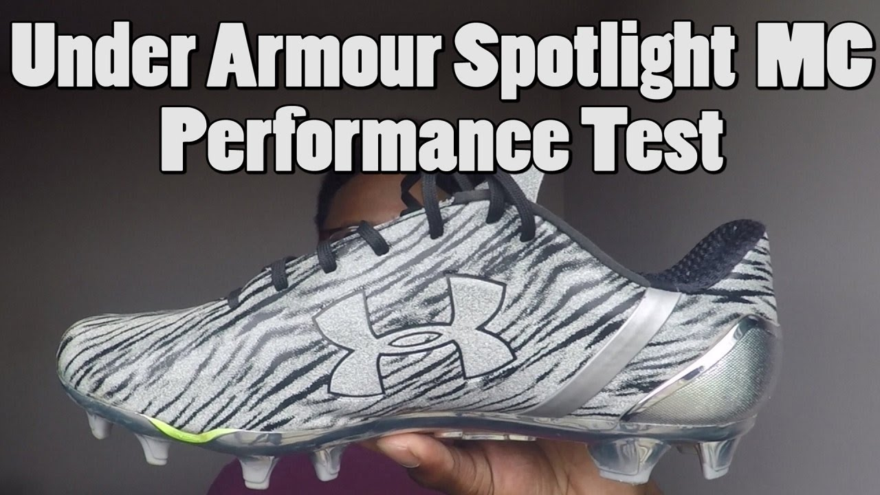 9e353be351f8 Under Armour Spotlight Football Cleats Performance Test - YouTube