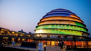 RWANDA, KIGALI downtown - Beautiful cleanest City in Africa 2014