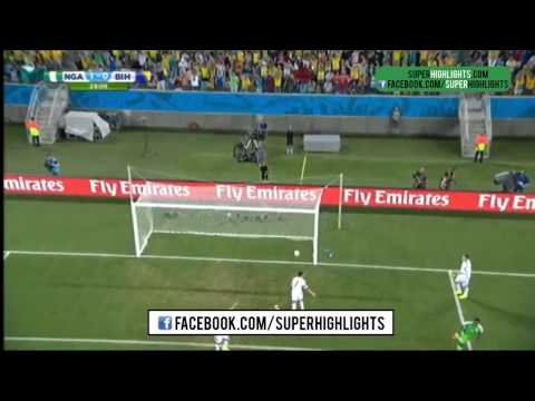 Nigeria vs Bosnia 1- 0 Peter Odemwingie's Goal World Cup 2014