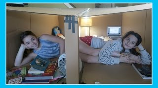 One of Flippin' Katie's most viewed videos: Check Out This Awesome School Fort | Flippin' Katie