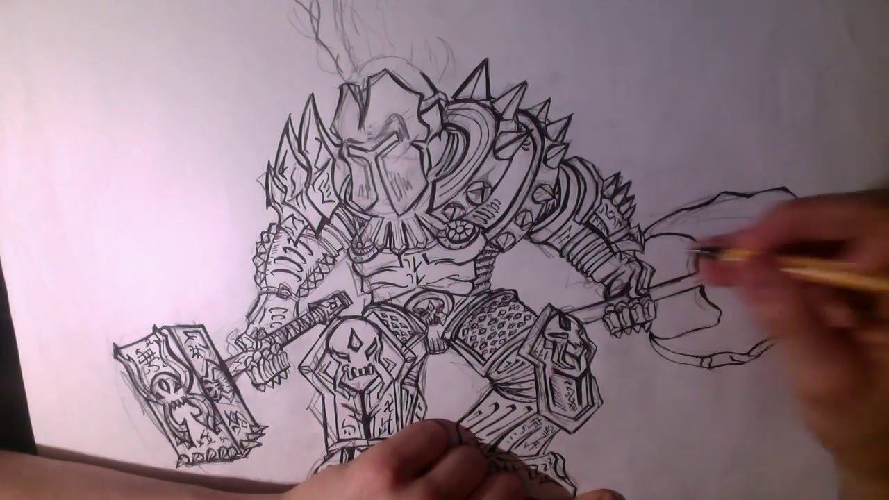 Comment dessiner un chevalier youtube - Dessins chevaliers ...