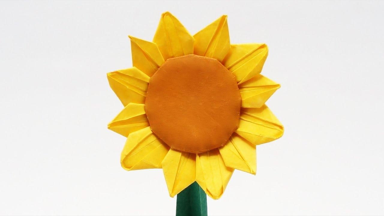 preview origami sunflower �� jo nakashima timelapse