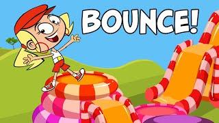 Kids Song - BOUNCE - funny cartoon children's music video by Preschool Popstars - kid songs