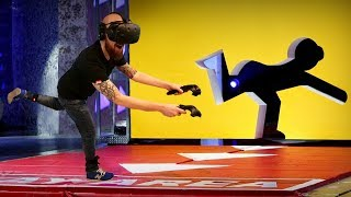 HOLE IN THE WALL GAME SHOW IN VIRTUAL REALITY!