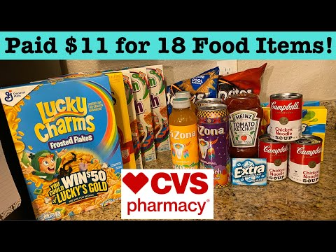 CVS Couponing Haul! Paid $11 for 18 items! Free Gum, $1 Cereal | Food Stock Up| Krys the Maximizer