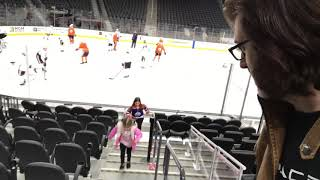 Edmonton Oilers morning skate at T-Mobile Arena