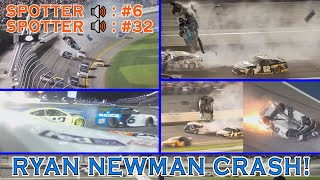 Every Unique Angle of Ryan Newman's 2020 Daytona 500 Crash + Spotter Audio!