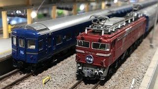 KATO 3021-3 EF81 北斗星色 24系寝台特急「北斗星」デラックス編成  懐かしのブルートレインを鉄道模型で ロフトレイアウト
