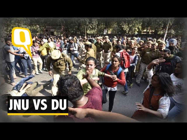 The Quint: Current Ramjas Clashes And JNU Protests of Feb 2016 Are Connected