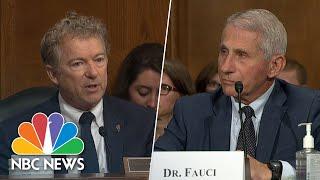 Watch: Dr. Fauci, Sen. Rand Paul Clash During Congressional Hearing
