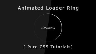 How To Create Very Simple CSS Loader For Beginners | Loading Spinner BK Tutorial