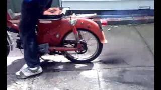 my 1962-1965 honda 55 postie bike burnout