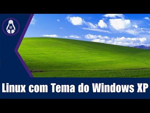 Linux com Tema do Windows XP