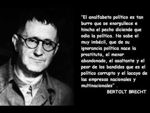 El analfabeto político, Brecht.