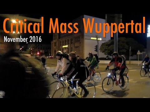 Critical Mass Wuppertal - November 2016