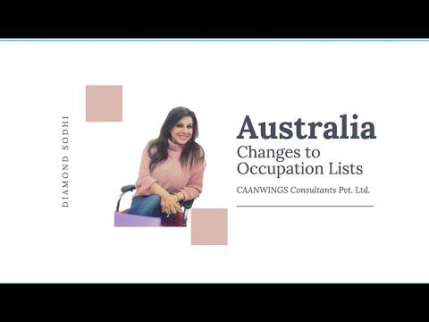 Changes In Australia Migration Occupation Lists | Australia PR