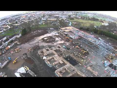Castle Tower School New Build Aerial Footage