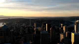 Seattle time lapse from the highest spot Columbia tower (74th) Asus Zen fone 2