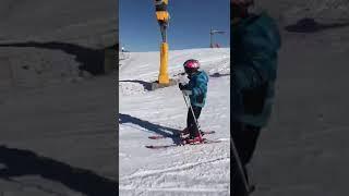 Горные лыжи, обучение детей.Мальчику всего 7 лет.Шахдаг-2018