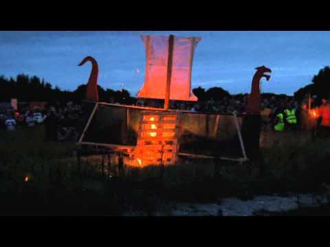Burning the Annagassan Viking boat 2013