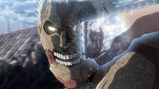 Reiner Was Surprised to See Eren's Hidden Power | ARMORED TITAN VS EREN FULL FIGHT !!! (English Sub)