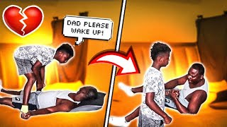 PLEASE WAKE UP  DAD (PRANK) ON DARION, WITH THE CRYER FAMILY