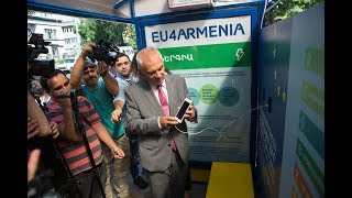 First Solar Powered Bus Stops in Yerevan